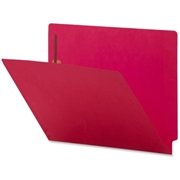Sparco Colored End Tab Fastener Folder