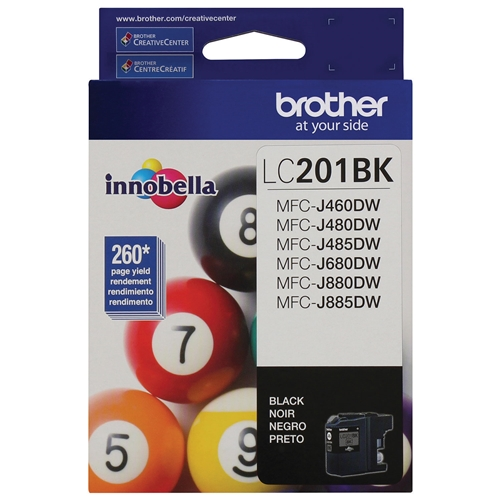 Brother LC-201 BKS (LC201BKS) OEM Ink Cartridge