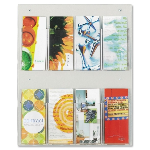 Safco Products Safco Clear2c 8 Pamphlet Display