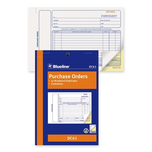 Dominion Blueline, Inc Blueline Purchase Order Form Book