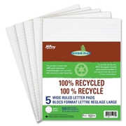 ACCO Brands Corporation Hilroy 100% Recycled Wide Ruled Letter Pad