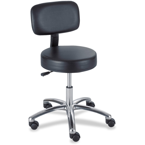 Safco 3430BL Pneumatic Lab Stool With Back