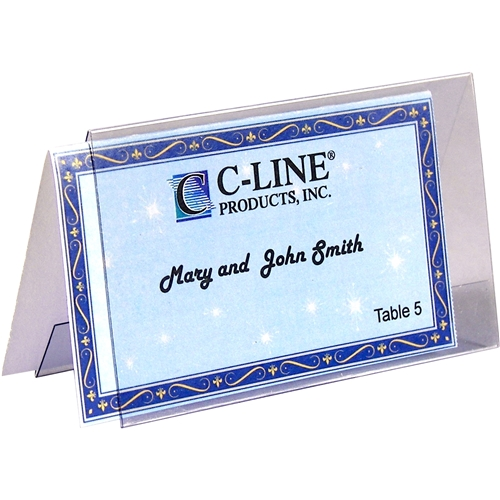 C-Line Products, Inc C-Line Laser Inkjet Printable Plastic Tent Holder