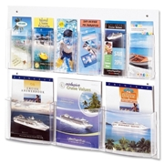 Safco Products Safco Clear2c Magazine/Pamphlet Display
