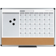 MasterVision 3-in-1 Combo Monthly Calendar Board