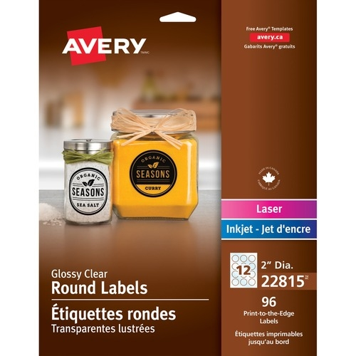 """Avery® Glossy Clear 2"""" Round Labels"""