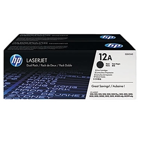 HP OEM 12A Dual Pack (Q2612AD) Toner Cartridge