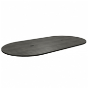 Heartwood Manufacturing Heartwood Grey Dusk Laminate Racetrack Tabletop