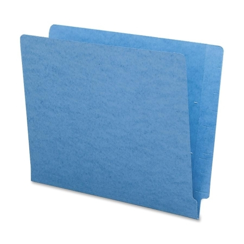 Smead 25010 Blue End Tab Colored File Folders with Reinforced Tab