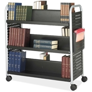 Safco Products Safco Scoot Double Sided Book Cart