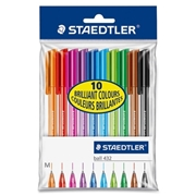 Staedtler Mars GmbH & Co. Staedtler 10 Colour Set Ballpoint Stick Pens