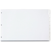 TOPS Products Cardinal Write 'n Erase Dividers