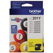 Brother LC-201 YS (LC201YS) OEM Ink Cartridge