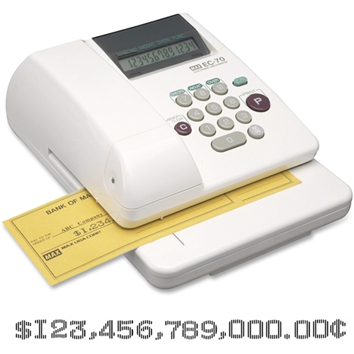 MAX Co. LTD MAX Memory Electronic Check Writer