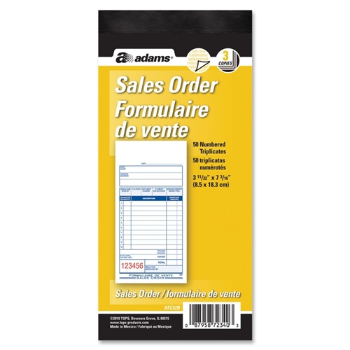 TOPS Products Adams Sales Order Forms Book