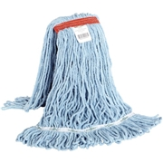 Globe Commercial Products Globe Synthetic Looped End Wet Mop Narrow Band Blue 24oz