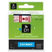 Dymo Red on White D1 Label Tape