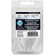 Merangue 50 Pack White Strung Tags