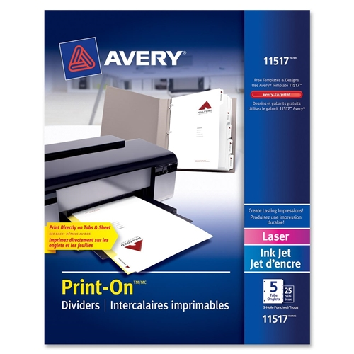 Avery Customizable Print-On Dividers