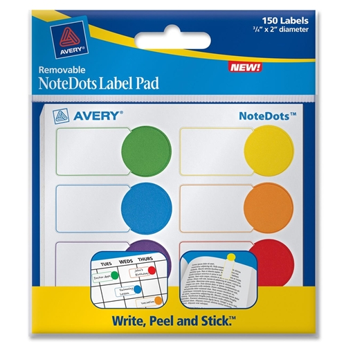 Avery NoteDots Color Coded Label