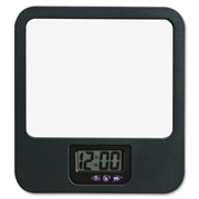 Lorell Fabric Panel Digital Clock Mirror