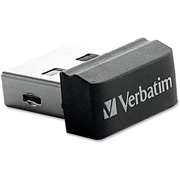 Verbatim America, LLC Verbatim 16GB Store 'n' Stay Nano USB Flash Drive - Black