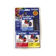 Brother LC41 Color 3pk (LC-41 Color 3pk) OEM Ink Cartridge