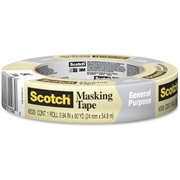 Scotch Masking Tape for Production Painting 2020-24A, 24 mm x 55 m, 36 Per Case