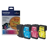 Brother LC61 3pk (LC-61 3pk) OEM Ink Cartridge
