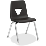 """Lorell 18"""" Seat-height Stacking Student Chairs - 4/CT"""