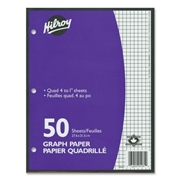 "ACCO Brands Corporation Hilroy 4:1"" Two-Sided Quad Ruled Filler Paper"