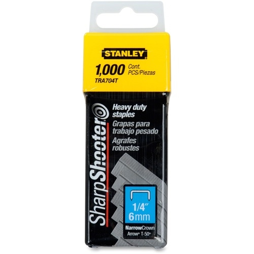 "Amax Inc Stanley SharpShooter Heavy-Duty 1/4"" Staples"