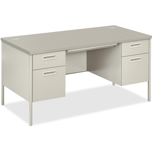 The HON Company HON Metro Classic Series Double Padestal Desk