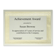 First Base, Inc First Base Classic Gold Foil/Linen Certificate