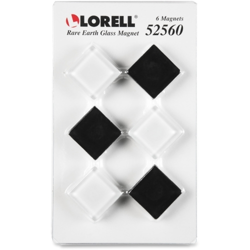 Lorell Square Glass Cap Rare Earth Magnets