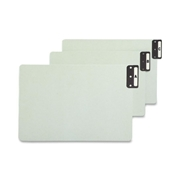 Smead Manufacturing Company Smead 63276 Gray/Green 100% Recycled Extra Wide End Tab Pressboard Guides with Vertical Metal Tab