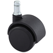 Lorell Soft Wheel B Stem Standard Safety Casters