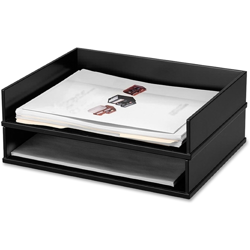 Victor Technology, LLC Victor Midnight Black Stacking Letter Tray