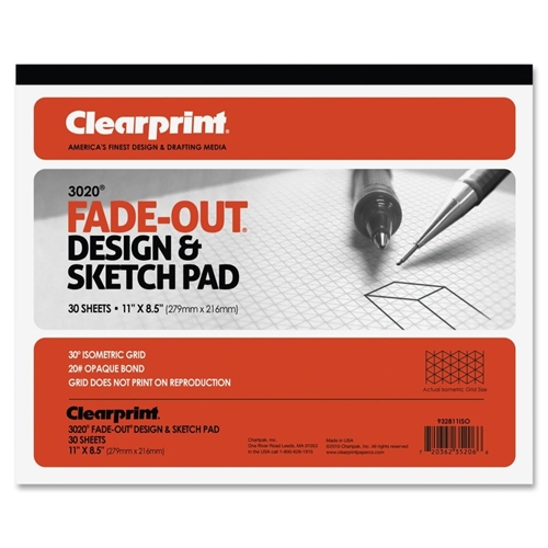 Chartpak, Inc Clearprint Isometric Grid Paper