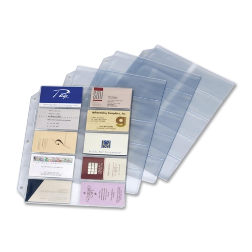 TOPS Products Cardinal Vinyl Business Card Refill Page