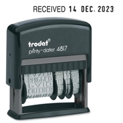 Trodat Dial-A-Phrase Date Stamp