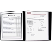 C-Line Products, Inc C-Line 24-Pocket Bound Sheet Protector Presentation Book, Black, 33240