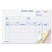 Blueline Bilingual Invoice Book