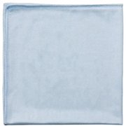 "Globe Commercial Products Globe 14""""x14"""" Glass/Mirror Microfiber Cloth Blue"