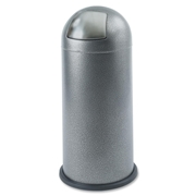 Safco Push Top Dome Waste Receptacle