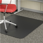 "Deflect-o Black Mat 45"" x 53"" Rectangle-Low Pile"