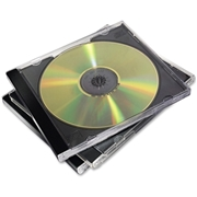 Fellowes, Inc Fellowes CD Jewel Cases Black - 10 Pack