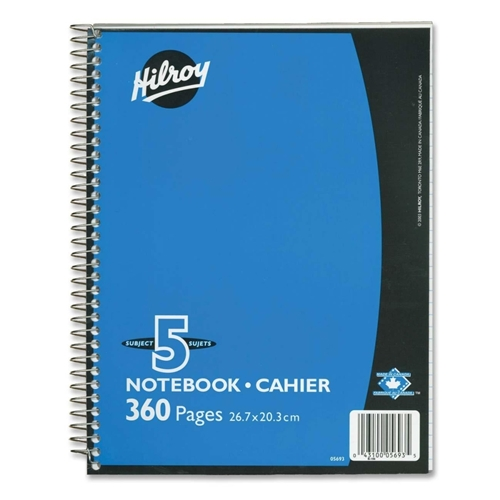 ACCO Brands Corporation Hilroy Executive Coil Five Subject Notebook