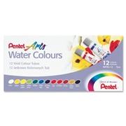 Pentel of America, Ltd Pentel Arts Water Colors, Set of 12