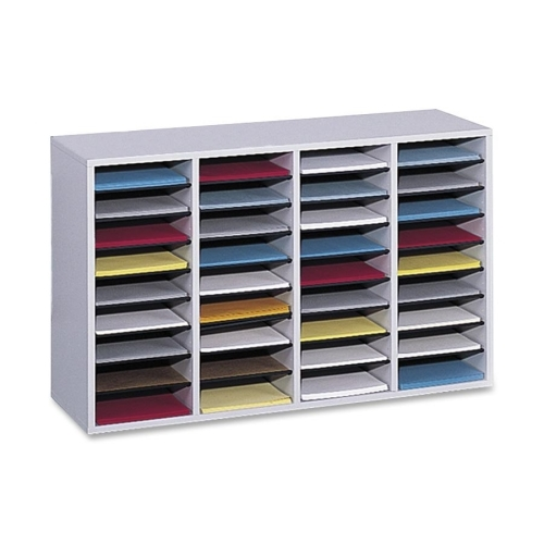 Safco Products Safco 36 Compartment Adjustable Shelves Literature Organizer